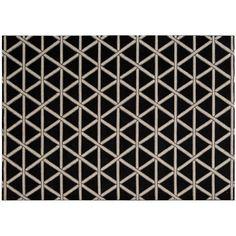 Kathy Ireland Hollywood Shimmer Geometric Rug, Black