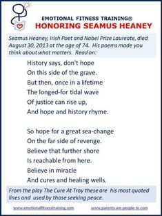 seamus heaney all the others poets poems seamus  seamus heaney essay feeling into words experts opinions