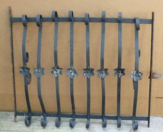 "Antique Wrought Iron WINDOW GATE Guard-Architectural Salvage 33"" #Unknown"