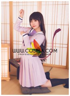 Costume Detail Noragami Hiyori Iki Uniform Costume Set Includes - Top, Skirt We may have selected store sizes for this costume, ready for fast ship. Please check with us on availability and approximat