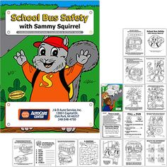 School Bus Safety Coloring Pages school bus safety
