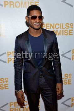 Usher wears Les Hommes  @Promise of Pencil Gala New York  October 25th 2012