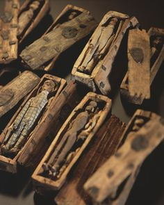 In June 1836 five young boys, hunting for rabbits on the north-eastern slopes Arthur's Seat, Edinburgh, found 17 miniature coffins hidden inside a cave.