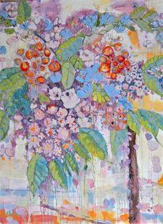Annie O'Brien Gonzales Primavera acrylic on canvas Watercolor Flowers, Watercolor Art, Art Aquarelle, Pin Art, Art Moderne, Fruit Art, Floral Paintings, Acrylic Paintings, Arte Floral