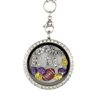 Infinity Love Baltimore Football Charm Necklace