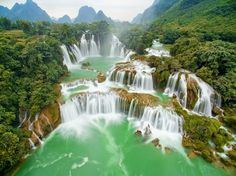 Vietnam Ban Gioc Waterfall Photo by Tan Nguyen — National Geographic Your Shot - Ban Gioc waterfall in the far northern Vietnamese province of Cao Bang is one of the most popular sites in the region, which boasts a famed karst landscape of striking limestone peaks.