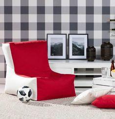 Sedací vak v tvare kresla - dvojfarebný 87x31x75cm V kolekcii Etna, tkanina: 705-60    #detskaizba#nabytok#sedacivak#vankuse#doplnky Bean Bag Chair, Furniture, Home Decor, Decoration Home, Room Decor, Beanbag Chair, Home Furnishings, Home Interior Design, Bean Bag