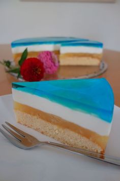 Blue Hawaii Torte. Beach Strand Kuchen