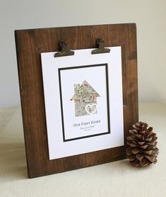 Our First Home New Home Housewarming Gift Personalized Map First Anniversary Gifts, Paper Anniversary, Wedding Vow Art, First Home Gifts, Long Distance Relationship Gifts, Client Gifts, Paper Hearts, Bridal Gifts, Paper Gifts