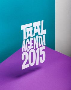 Taal Agenda 2015 on Behance