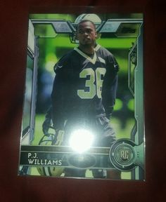 2015 Topps P.J. Williams Rookie # 405 new Orleans Saints in Sports Mem, Cards & Fan Shop, Cards, Football | eBay