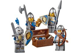 Help the trusty Knights defend the King's treasure! (castle knights accessory set)