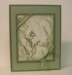 Stamps: Garden Silhouettes (Hostess)  Paper: Always Artichoke, Mellow Moss  Ink: Always Artichoke, Mellow Moss  Accessories: Cuttlebug