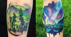 Check out these 25 Aurora Borealis Tattoos! The dancing northern lights in the sky are simply too stunning, even on skin.