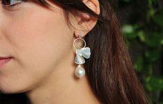 orecchini in argento con grandi foglie di di calcagninigioielli