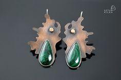 SPLASH! - Earrings green from Sztuk_Kilka_Silver by DaWanda.com