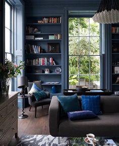 Ink Blue Living Room   #BlueLivingRoom
