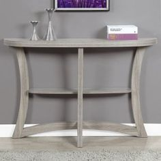 Monarch Specialties Half Moon Console Table - Add some extra storage and style to your entryway or sofa with the Monarch Specialties Half Moon Console Table. Crafted from engineered wood and parti...