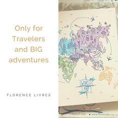 Worldmap  Cuaderno de Viaje  Pensado especialmente para viajeros con grandes aventuras por delante   #Promo Agosto  Con tu CDV te llevás de regalo un #monthplanner la bolsita de tela y el lápiz. http://ift.tt/2aSp2hs