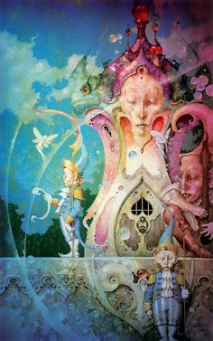 Daniel Merriman My newest favorite artist. His works are like Victorian meets Steampunk through the Looking Glass.