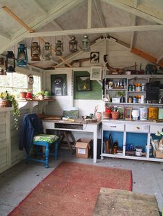 13 prefab sheds transformed into guest houses home offices and man caves is part of Garage art studio - 13 Prefab Sheds Transformed into Guest Houses, Home Offices, and Man Caves Garageart Studio Studio Hangar, Garage Art Studio, Studio Shed, Workshop Studio, Art Studio At Home, Workshop Shed, Workshop Ideas, Home Art Studios, Studios D'art
