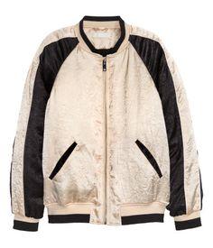 Satin Pilot Jacket | Light beige | Ladies | H&M US