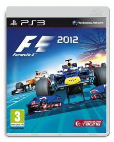 Official PS3 packshot of F1 2012, featuring Red Bull, Force India, and Marussia.