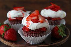 Red Velvet Strawberry Shortcake Cupcakes!