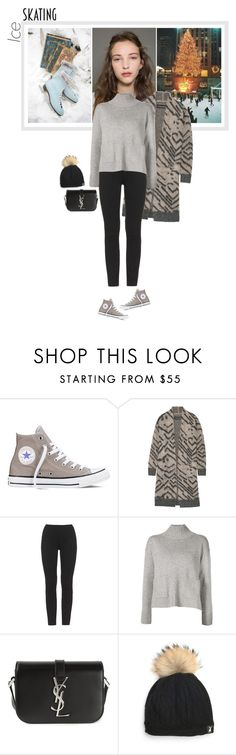 """""""So Cute: Ice Skating Style"""" by mariotsala22 ❤ liked on Polyvore featuring Converse, By Malene Birger, adidas Originals, Frame Denim and Yves Saint Laurent"""