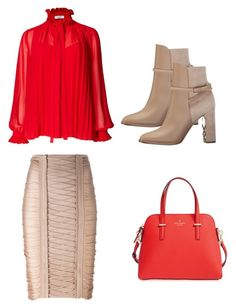 """""""Untitled #331"""" by nataliya-mostriansky on Polyvore featuring Balmain, Burberry and Kate Spade"""