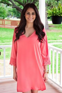 Dare To Be Different Dress-Coral