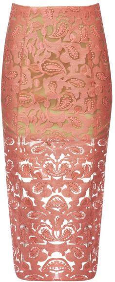Veronica Beard Lace Pencil Skirt Pink/nude