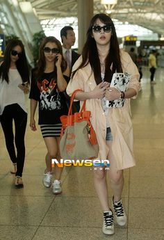 Sulli at airport