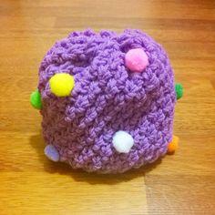 Hand Knit Children's Beanie with pom poms by HandicraftByDamla
