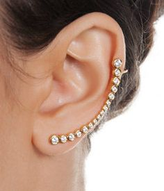 THİS EAR CUFF IS JUST ONE PIECE !!!        Metal : Sterling Silver with 925 Mark    Measures Approx: 55 mm    Gems: 1.5 mm - 1.75 mm - 2 mm -