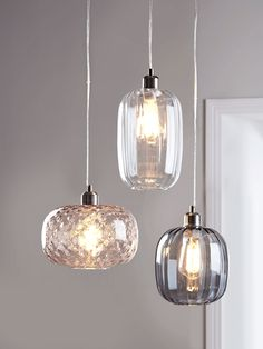 NEW Fluted Glass Pendant - Smoke - Pendant Lighting - Ceiling Lights - Lighting