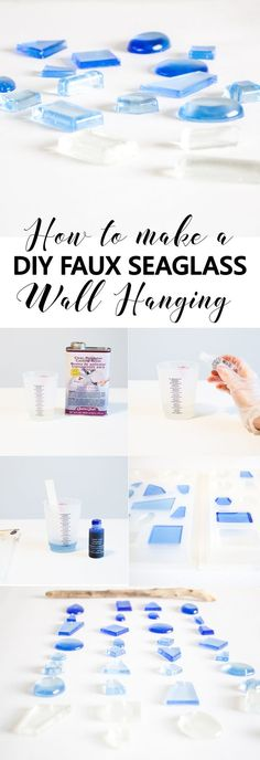 DIY Faux Seaglass Wa