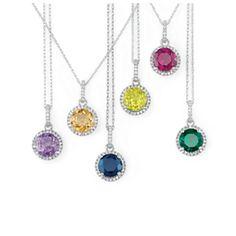 Birthstone & Diamond pendants at oakridgejewelers.net