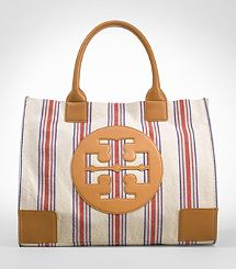 Tory Burch Striped Ella Tote! Did I mention yet tht I NEED this?