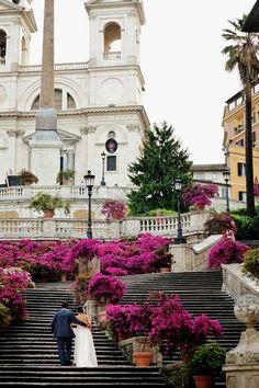 Las Escaleras de la plaza del Campilollo Roma Italia
