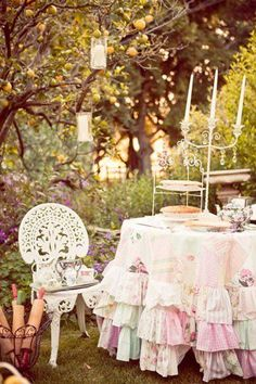 Enchanted...this will be Bella's birthday party theme this year...a big outdoor tea party...