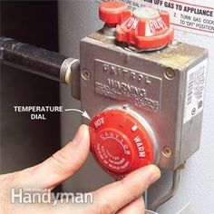 How to Adjust Hot Water Heater Temperature | The Family Handyman