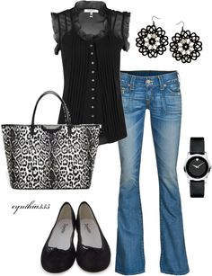 """Classic Black"" by cynthia335 ❤ liked on Polyvore"