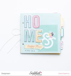 Home - a minibook with Happy Place collection - V-tyylillä