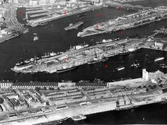 Luchtfoto Rotterdam (jaartal: 1950 tot 1960) - Foto's SERC