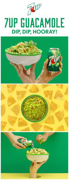Intrigued? Into it? However you feel about 7UP Guacamole, don't diss it 'til you dip it. #DoMoreWith7UP