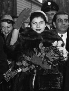 Soraya and fans in Germany 1955 and on State visit Germany.