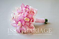 buchet mireasa orhidee cymbidium roz