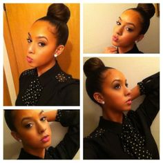 Gosh I can't wait until my hair gets long enough for a nice tight bun