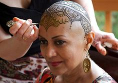Thought this was beautiful; Henna Heals in Canada creating #henna crowns for Cancer Patients. x